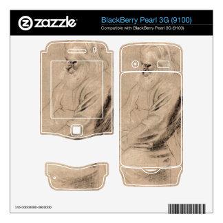 Sitting Greis by Paul Rubens BlackBerry Decals