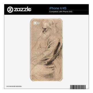 Sitting Greis by Paul Rubens iPhone 4S Skins
