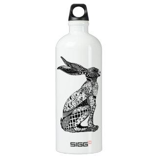 Sitting Hare Aluminum Water Bottle