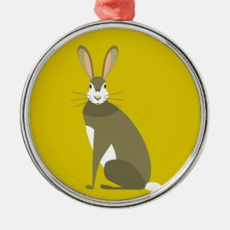 Sitting Hare Metal Ornament