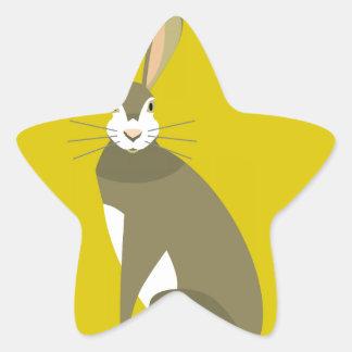 Sitting Hare Star Sticker