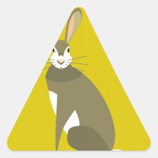 Sitting Hare Triangle Sticker