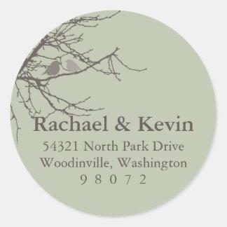 Sitting in a Tree Round Address Label Classic Round Sticker
