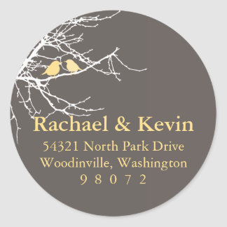 Sitting in a Tree Round Address Label Stickers