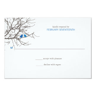 Sitting in a Tree Wedding Response 3.5x5 Paper Invitation Card