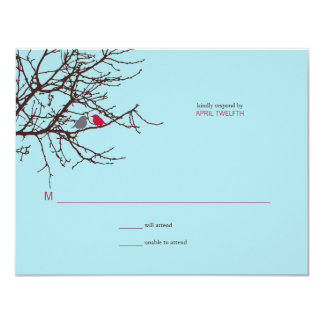 Sitting in a Tree Wedding Response 4.25x5.5 Paper Invitation Card