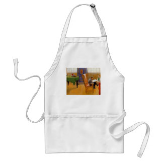 Sitting in the Armchair Adult Apron