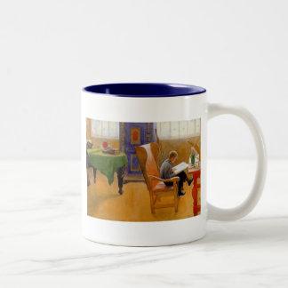Sitting in the Armchair Two-Tone Coffee Mug