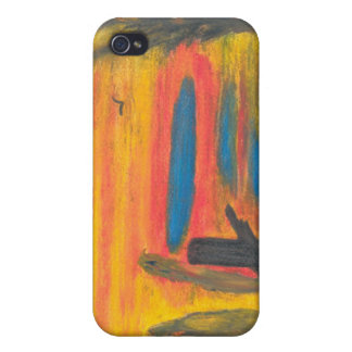 Sitting in the Falling Rain with a Big Bird iPhone 4/4S Cover