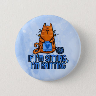 sitting knitting button