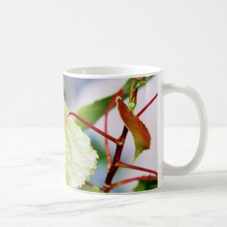 Sitting Ladybug on a Leaf Coffee Mug