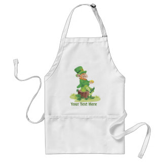 Sitting Leprechaun Adult Apron