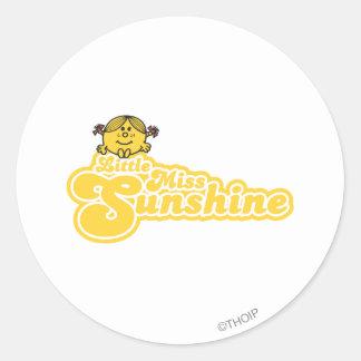 Sitting Little Miss Sunshine Classic Round Sticker