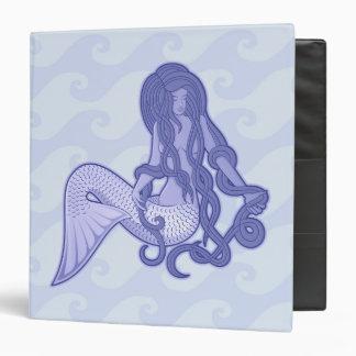 Sitting Mermaid Blue 3 Ring Binder