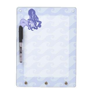 Sitting Mermaid Blue Dry-Erase Board