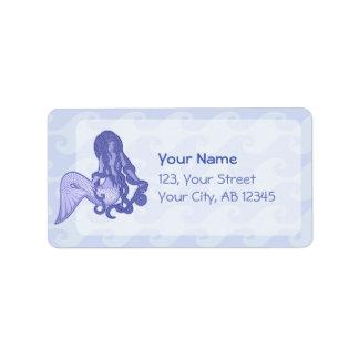 Sitting Mermaid Blue Label