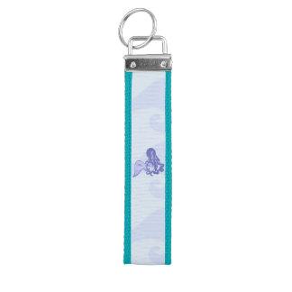 Sitting Mermaid Blue Wrist Keychain
