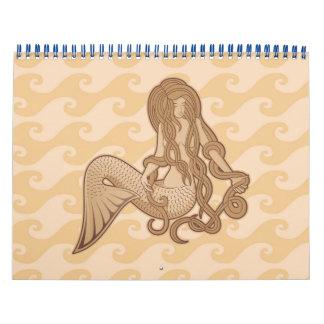 Sitting Mermaid Calendar