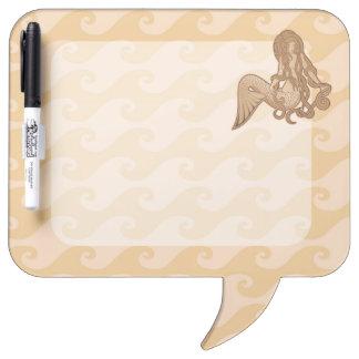Sitting Mermaid Dry-Erase Board