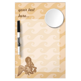Sitting Mermaid Dry Erase Board With Mirror