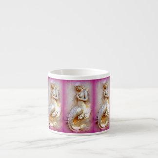 sitting mermaids pink espresso mug