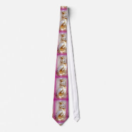 sitting mermaids pink tie