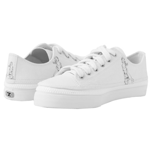 Sitting nymph... Low-Top sneakers | Zazzle
