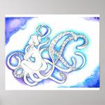 """""""Sitting Octopus Mermaid"""" Poster"""