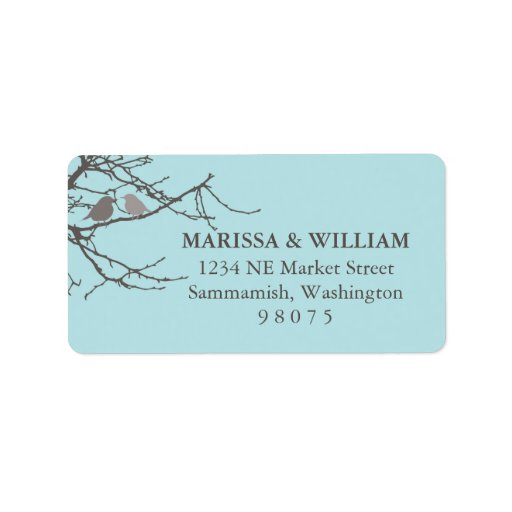 Sitting on a Tree Address Label