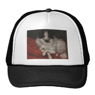 Sitting on Cushions Dog by Gustave Courbet Trucker Hat