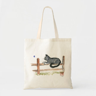 Sitting on the Fence, Sumi-e Tote Bags