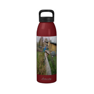 Sitting on the Fence Water Bottle