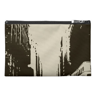 Sitting on the Winter Streets of the City Travel Accessories Bags