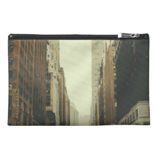 Sitting on the Winter Streets of the City Travel Accessory Bags