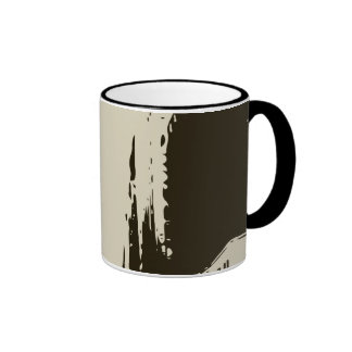 Sitting on the Winter Streets of the City Ringer Coffee Mug