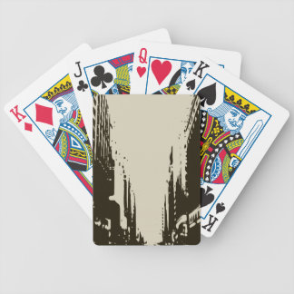 Sitting on the Winter Streets of the City Bicycle Playing Cards