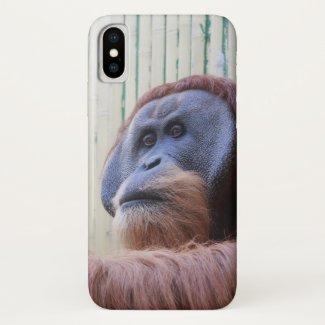 Sitting Orang Utan... iPhone X Case