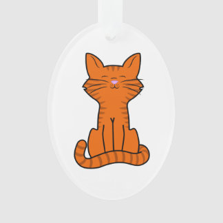 Sitting Orange Kitten Ornament