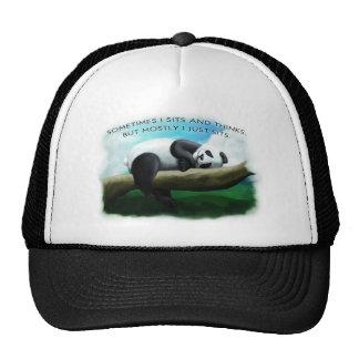 Sitting Panda Trucker Hat