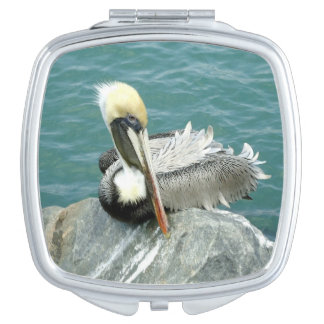 Sitting Pelican Compact Mirror