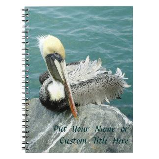Sitting Pelican Custom Notebook