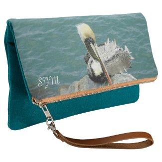 Sitting Pelican Monogrammed