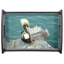 Sitting Pelican Serving Tray