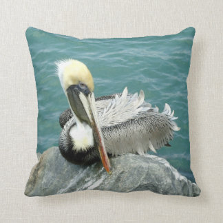 Sitting Pelican Throw Pillow