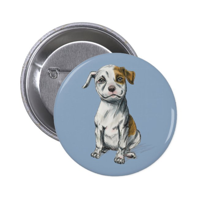 Sitting Pit Bull Puppy Drawing