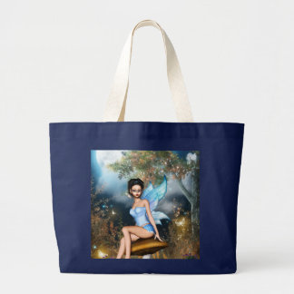 Sitting Pretty Fairy Large Tote Bag