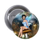 Sitting Pretty Fairy Pinback Buttons