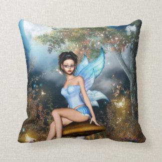 Sitting Pretty Fairy Throw Pillow
