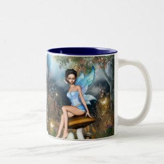 Sitting Pretty Fairy Two-Tone Coffee Mug