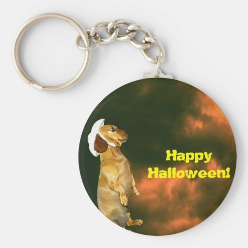 Sitting Pretty For Lots of Treats Basic Round Button Keychain